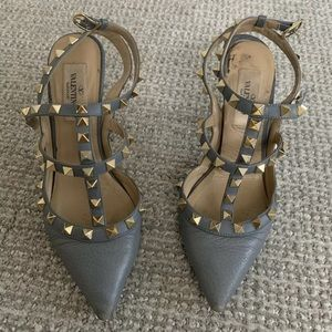 Authentic Valentino rockstud heels grey 36